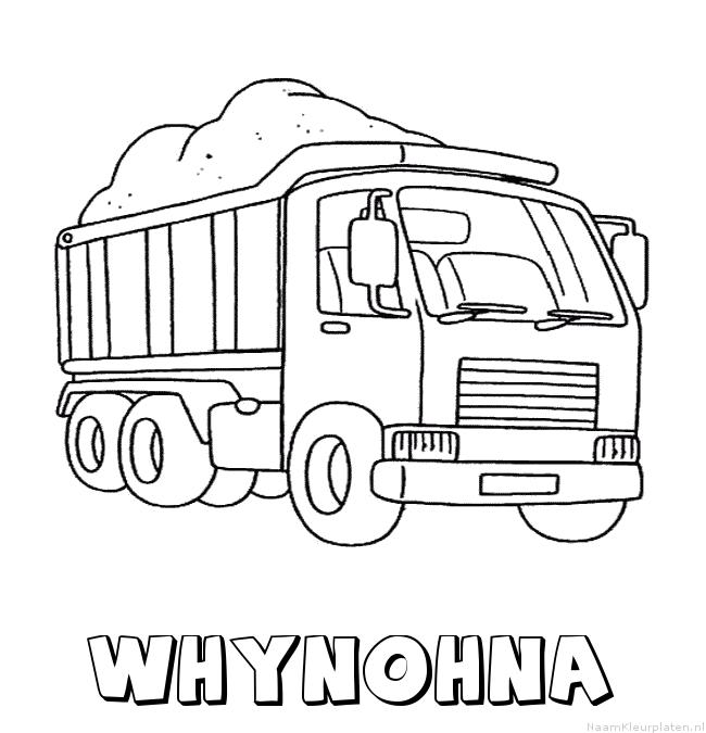 Whynohna vrachtwagen kleurplaat