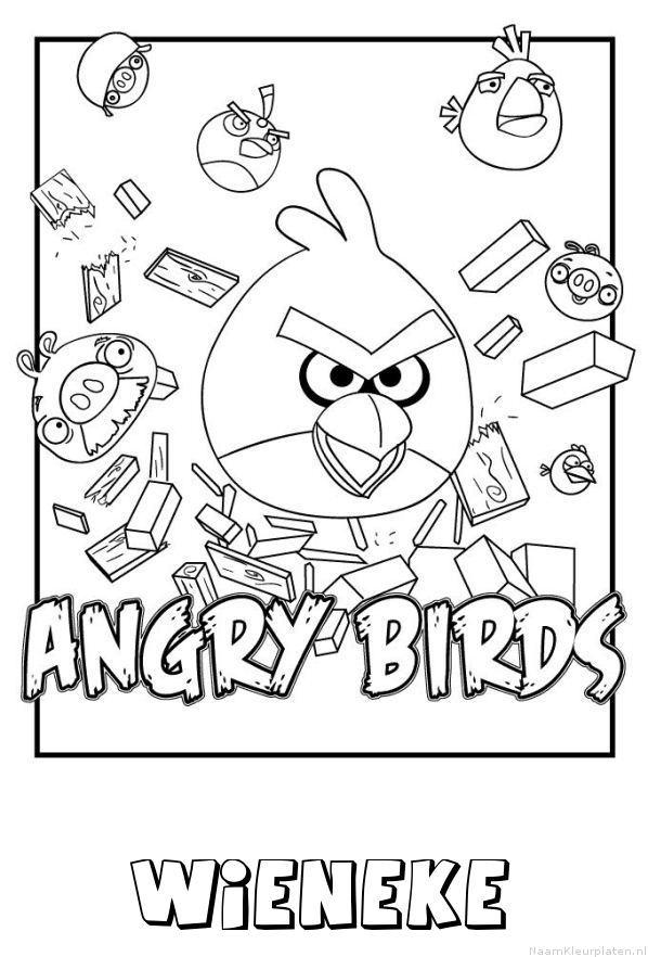 Wieneke angry birds kleurplaat