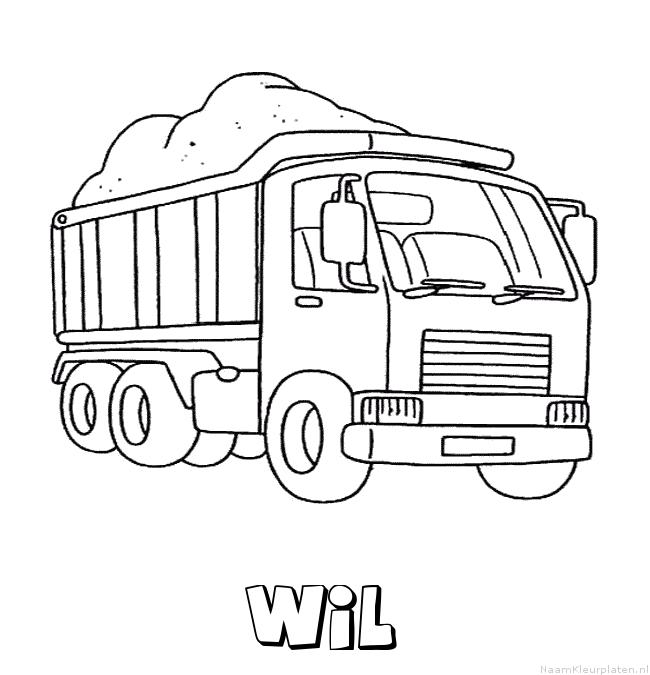 Wil vrachtwagen kleurplaat
