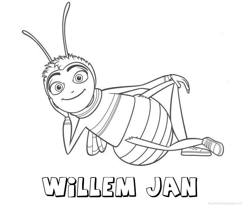 Willem jan bee movie kleurplaat