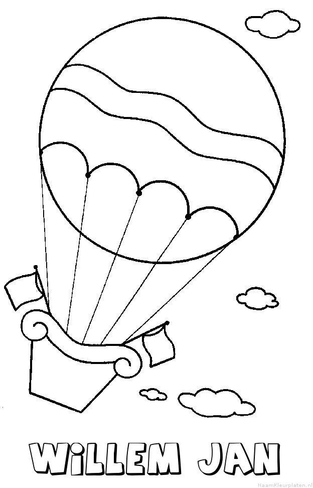 Willem jan luchtballon kleurplaat
