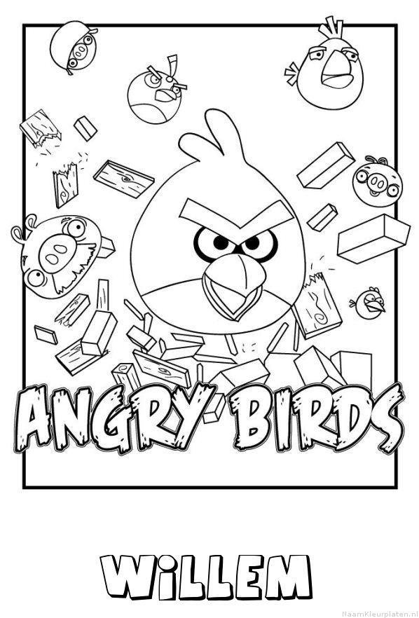 Willem angry birds kleurplaat