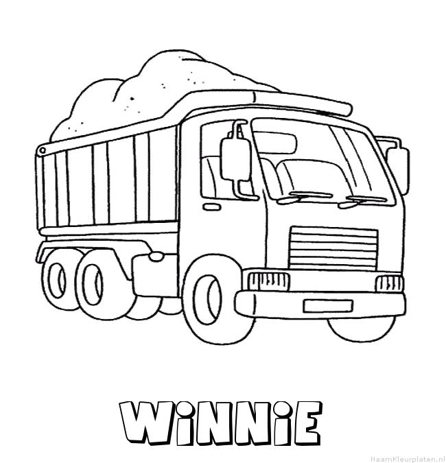 Winnie vrachtwagen kleurplaat