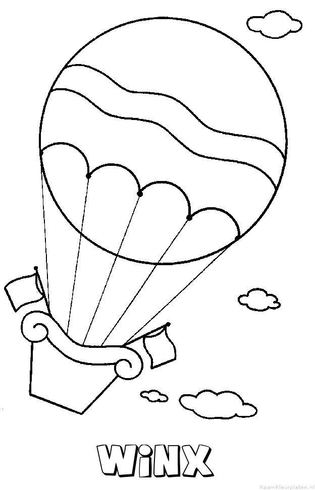 Winx luchtballon kleurplaat