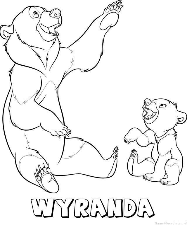 Wyranda brother bear kleurplaat