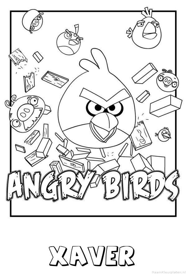 Xaver angry birds kleurplaat