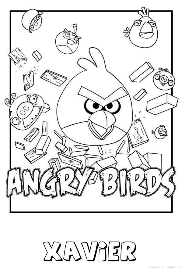 Xavier angry birds kleurplaat