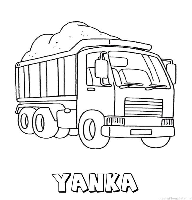 Yanka vrachtwagen kleurplaat