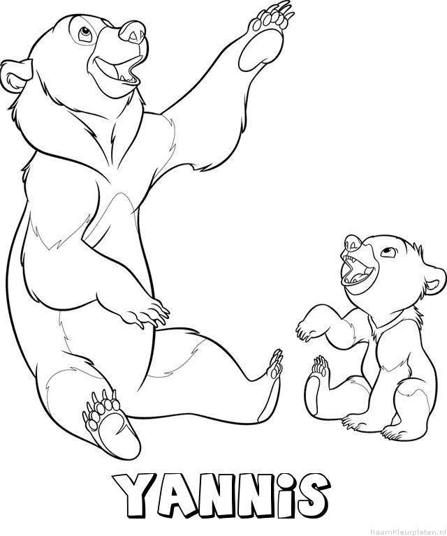 Yannis brother bear kleurplaat