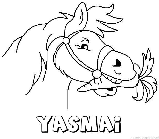 Yasmai paard van sinterklaas kleurplaat