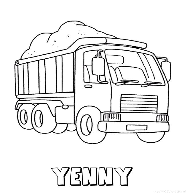 Yenny vrachtwagen kleurplaat
