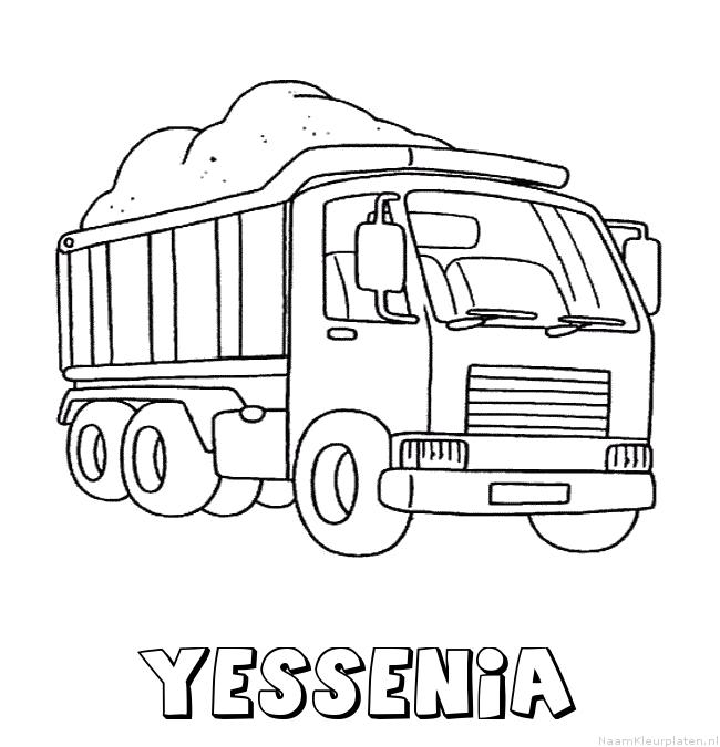 Yessenia vrachtwagen kleurplaat