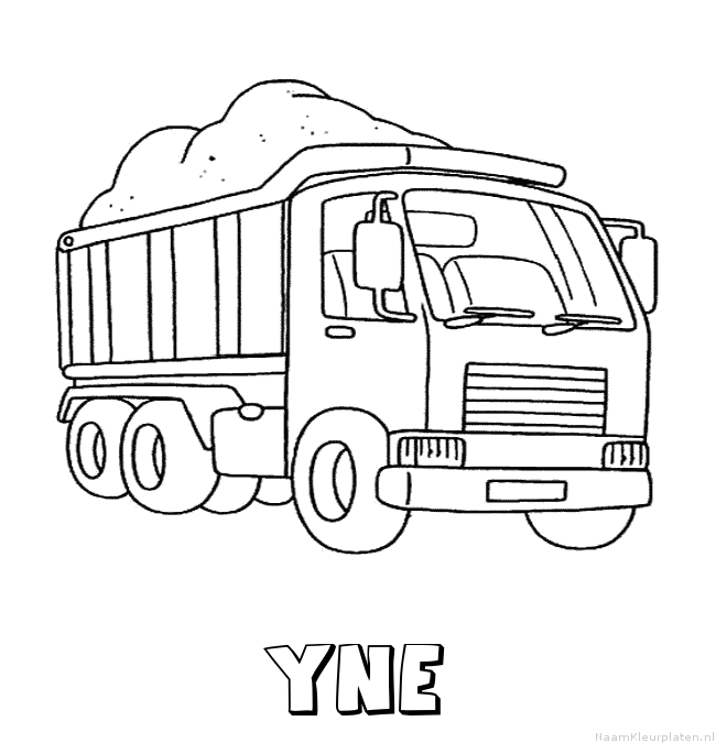 Yne vrachtwagen kleurplaat