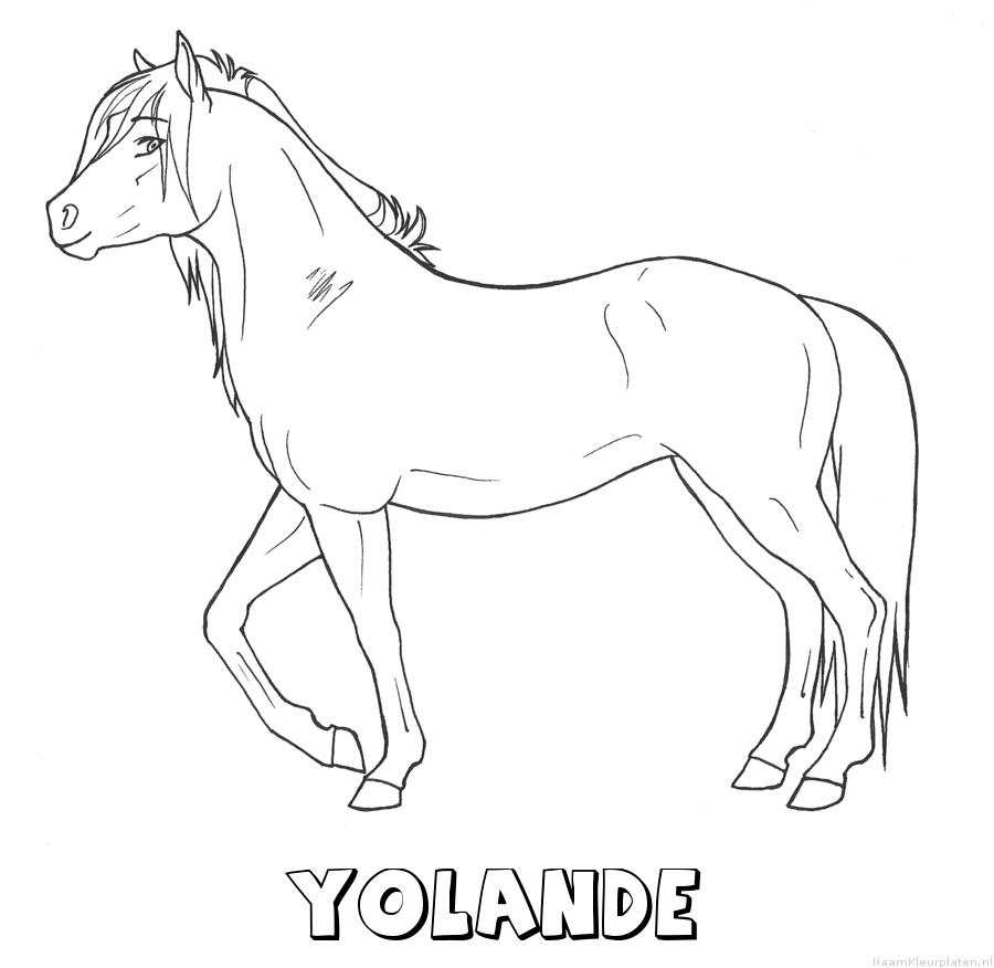 Yolande paard kleurplaat
