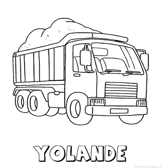 Yolande vrachtwagen kleurplaat