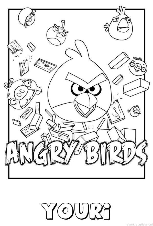 Youri angry birds kleurplaat
