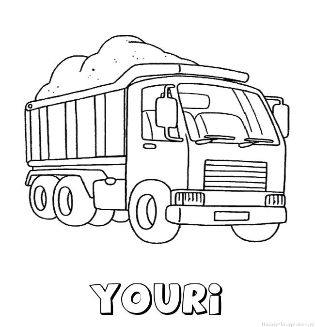 Youri vrachtwagen kleurplaat