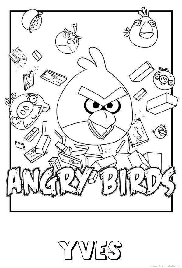 Yves angry birds kleurplaat