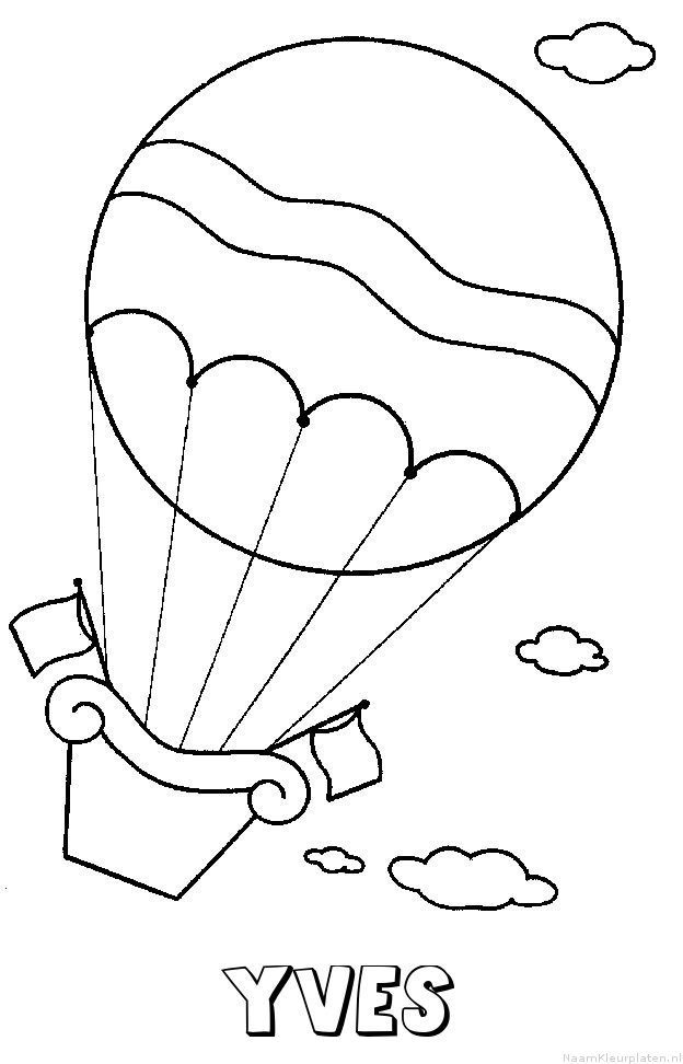 Yves luchtballon kleurplaat