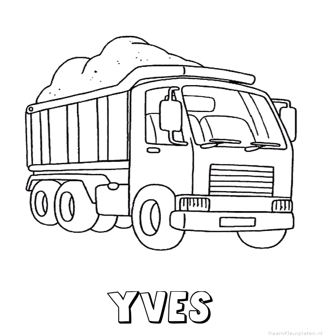 Yves vrachtwagen kleurplaat