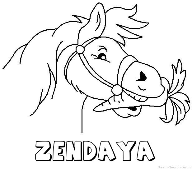 Zendaya paard van sinterklaas kleurplaat