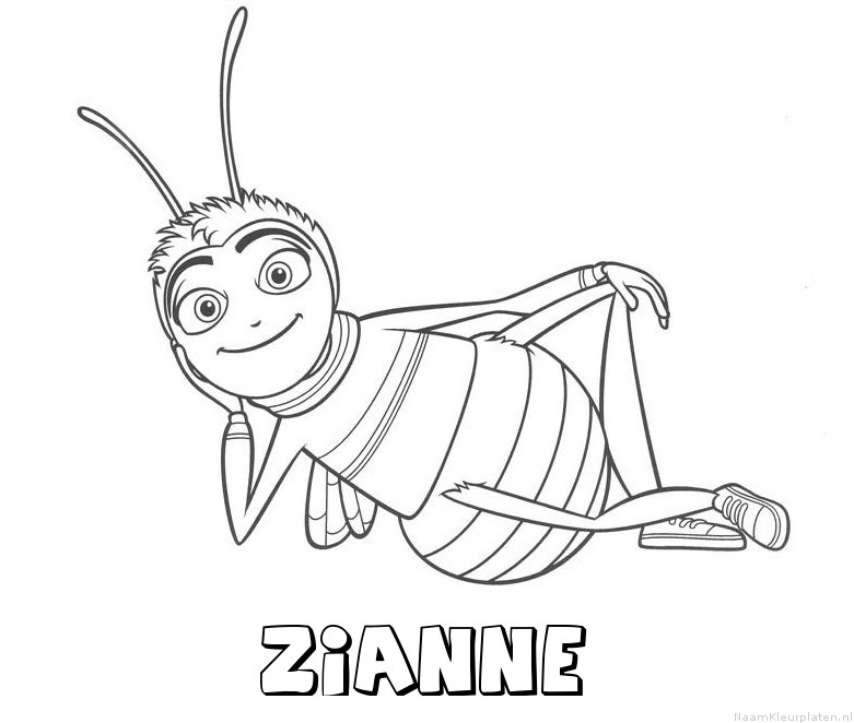 Zianne bee movie kleurplaat