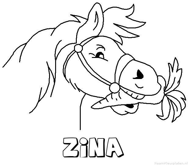 Zina paard van sinterklaas kleurplaat