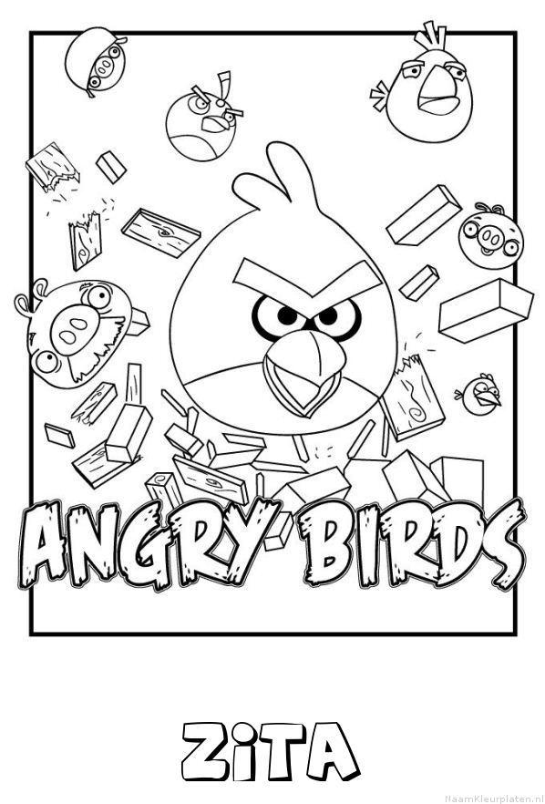 Zita angry birds kleurplaat