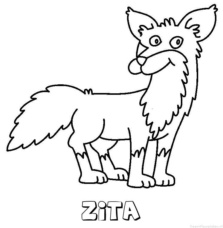 Zita vos kleurplaat